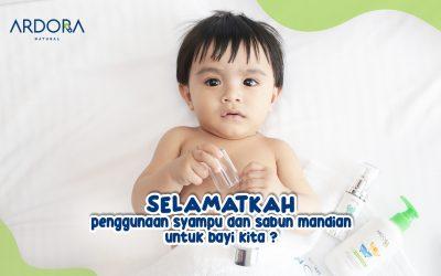 Selamat Ke Bayi Kita Pakai Syampu Dan Sabun Mandian Ketika Mandi ?